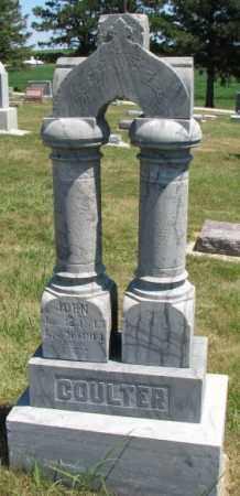COULTER, JOHN - Cedar County, Nebraska | JOHN COULTER - Nebraska Gravestone Photos