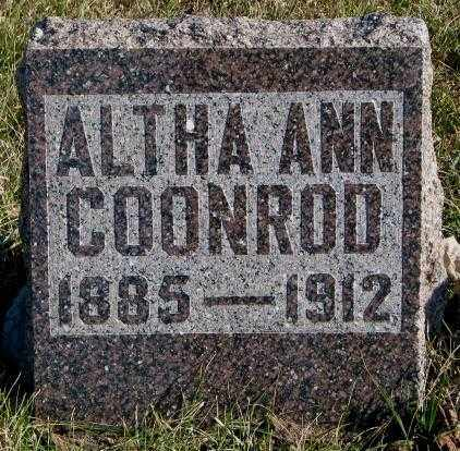 COONROD, ALTHA ANN - Cedar County, Nebraska | ALTHA ANN COONROD - Nebraska Gravestone Photos