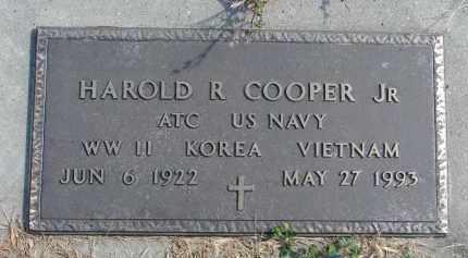 COOPER, HAROLD R. JR. (MILITARY) - Cedar County, Nebraska | HAROLD R. JR. (MILITARY) COOPER - Nebraska Gravestone Photos