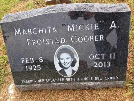 "COOPER, MARCHITA ""MICKIE"" A. - Cedar County, Nebraska | MARCHITA ""MICKIE"" A. COOPER - Nebraska Gravestone Photos"