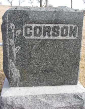 CORSON, FAMILY STONE - Cedar County, Nebraska | FAMILY STONE CORSON - Nebraska Gravestone Photos