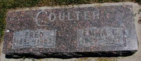 COULTER, FRED - Cedar County, Nebraska | FRED COULTER - Nebraska Gravestone Photos
