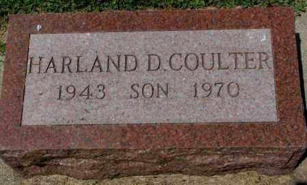 COULTER, HARLAND D. - Cedar County, Nebraska | HARLAND D. COULTER - Nebraska Gravestone Photos