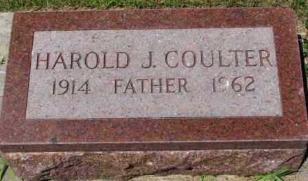 COULTER, HAROLD J. - Cedar County, Nebraska | HAROLD J. COULTER - Nebraska Gravestone Photos
