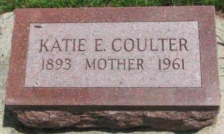 COULTER, KATIE E. - Cedar County, Nebraska   KATIE E. COULTER - Nebraska Gravestone Photos