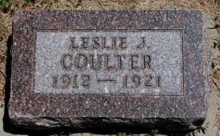 COULTER, LESLIE J. - Cedar County, Nebraska | LESLIE J. COULTER - Nebraska Gravestone Photos