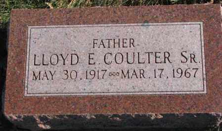 COULTER, LLOYD E. SR. - Cedar County, Nebraska | LLOYD E. SR. COULTER - Nebraska Gravestone Photos