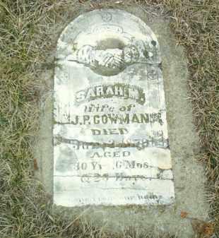 COWMAN, SARAH - Cedar County, Nebraska   SARAH COWMAN - Nebraska Gravestone Photos