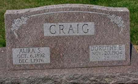 CRAIG, DOROTHY E. - Cedar County, Nebraska | DOROTHY E. CRAIG - Nebraska Gravestone Photos