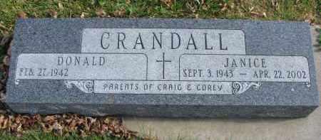 CRANDALL, JANICE - Cedar County, Nebraska | JANICE CRANDALL - Nebraska Gravestone Photos