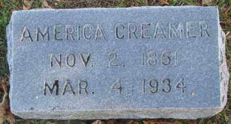 CREAMER, AMERICA - Cedar County, Nebraska | AMERICA CREAMER - Nebraska Gravestone Photos