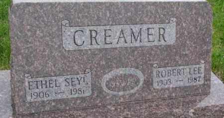 CREAMER, ETHEL - Cedar County, Nebraska | ETHEL CREAMER - Nebraska Gravestone Photos