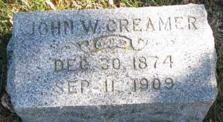 CREAMER, JOHN W. - Cedar County, Nebraska | JOHN W. CREAMER - Nebraska Gravestone Photos