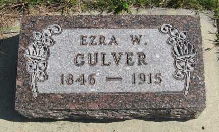 CULVER, EZRA W. - Cedar County, Nebraska | EZRA W. CULVER - Nebraska Gravestone Photos
