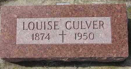 CULVER, LOUISE - Cedar County, Nebraska | LOUISE CULVER - Nebraska Gravestone Photos