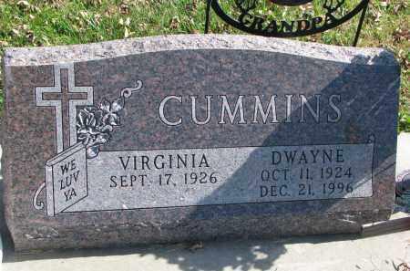 CUMMINS, VIRGINIA - Cedar County, Nebraska | VIRGINIA CUMMINS - Nebraska Gravestone Photos