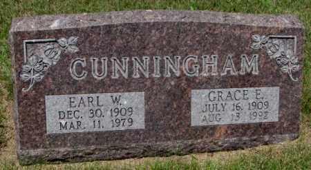 CUNNINGHAM, EARL W. - Cedar County, Nebraska   EARL W. CUNNINGHAM - Nebraska Gravestone Photos