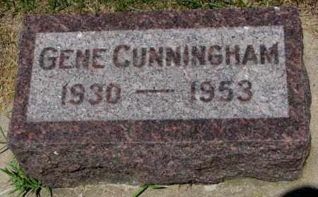 CUNNINGHAM, GENE - Cedar County, Nebraska | GENE CUNNINGHAM - Nebraska Gravestone Photos