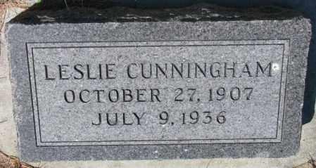 CUNNINGHAM, LESLIE - Cedar County, Nebraska | LESLIE CUNNINGHAM - Nebraska Gravestone Photos