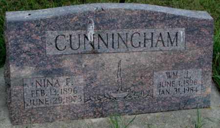 CUNNINGHAM, NINA F. - Cedar County, Nebraska | NINA F. CUNNINGHAM - Nebraska Gravestone Photos