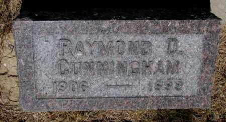 CUNNINGHAM, RAYMOND D. - Cedar County, Nebraska | RAYMOND D. CUNNINGHAM - Nebraska Gravestone Photos