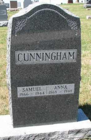 CUNNINGHAM, SAMUEL - Cedar County, Nebraska | SAMUEL CUNNINGHAM - Nebraska Gravestone Photos