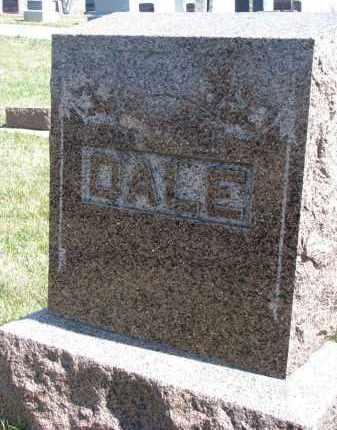 DALE, FAMILY STONE - Cedar County, Nebraska   FAMILY STONE DALE - Nebraska Gravestone Photos
