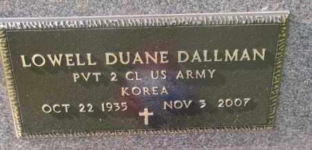 DALLMAN, LOWELL DUANE (MILITARY) - Cedar County, Nebraska | LOWELL DUANE (MILITARY) DALLMAN - Nebraska Gravestone Photos