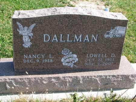 DALLMAN, NANCY L. - Cedar County, Nebraska | NANCY L. DALLMAN - Nebraska Gravestone Photos