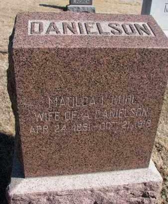 KUHL DANIELSON, MATILDA L. - Cedar County, Nebraska | MATILDA L. KUHL DANIELSON - Nebraska Gravestone Photos