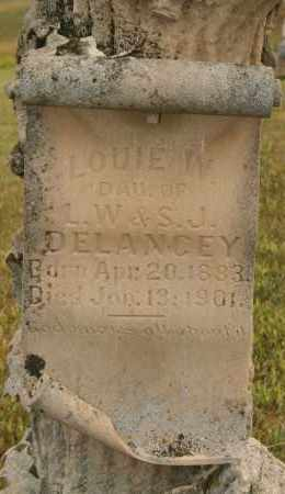DELANCEY, LOUIE W - Cedar County, Nebraska | LOUIE W DELANCEY - Nebraska Gravestone Photos
