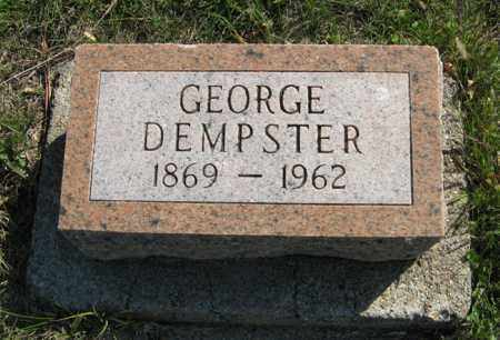 DEMPSTER, GEORGE - Cedar County, Nebraska | GEORGE DEMPSTER - Nebraska Gravestone Photos