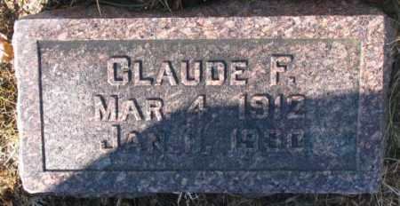 DENDINGER, CLAUDE F. - Cedar County, Nebraska | CLAUDE F. DENDINGER - Nebraska Gravestone Photos