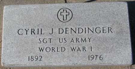 DENDINGER, CYRIL J. (WW I) - Cedar County, Nebraska | CYRIL J. (WW I) DENDINGER - Nebraska Gravestone Photos