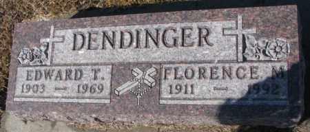 DENDINGER, FLORENCE M. - Cedar County, Nebraska | FLORENCE M. DENDINGER - Nebraska Gravestone Photos