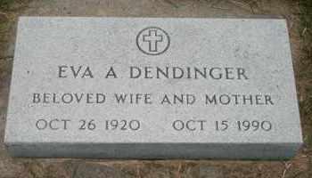DENDINGER, EVA A - Cedar County, Nebraska   EVA A DENDINGER - Nebraska Gravestone Photos