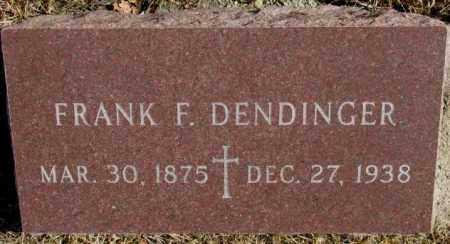 DENDINGER, FRANK F. - Cedar County, Nebraska | FRANK F. DENDINGER - Nebraska Gravestone Photos