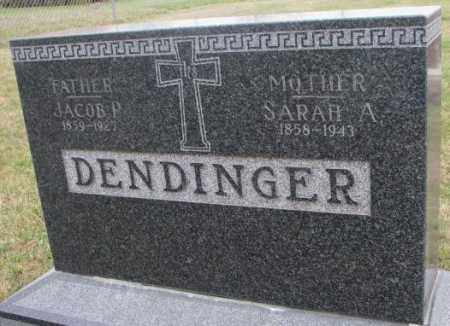 DENDINGER, SARAH A. - Cedar County, Nebraska | SARAH A. DENDINGER - Nebraska Gravestone Photos