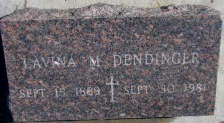 DENDINGER, LAVINA M. - Cedar County, Nebraska | LAVINA M. DENDINGER - Nebraska Gravestone Photos