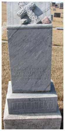 DENDINGER, MARIA MAGDALENA - Cedar County, Nebraska | MARIA MAGDALENA DENDINGER - Nebraska Gravestone Photos