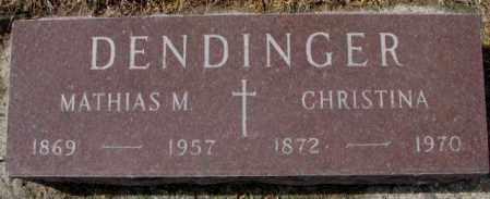 DENDINGER, MATHIAS M. - Cedar County, Nebraska | MATHIAS M. DENDINGER - Nebraska Gravestone Photos