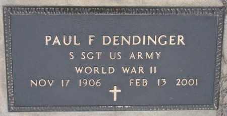DENDINGER, PAUL F. (WW II) - Cedar County, Nebraska   PAUL F. (WW II) DENDINGER - Nebraska Gravestone Photos