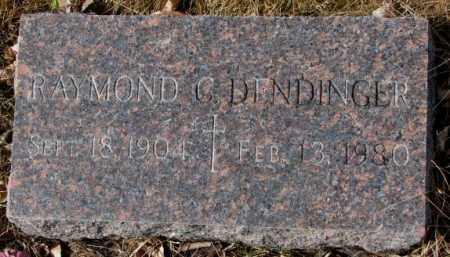 DENDINGER, RAYMOND C. - Cedar County, Nebraska | RAYMOND C. DENDINGER - Nebraska Gravestone Photos
