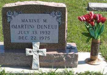 DENEUI, MAXINE M. - Cedar County, Nebraska | MAXINE M. DENEUI - Nebraska Gravestone Photos