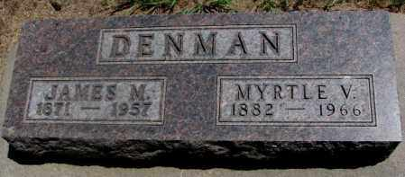 DENMAN, MYRTLE V. - Cedar County, Nebraska | MYRTLE V. DENMAN - Nebraska Gravestone Photos