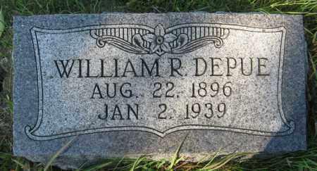 DEPUE, WILLIAM R. - Cedar County, Nebraska | WILLIAM R. DEPUE - Nebraska Gravestone Photos