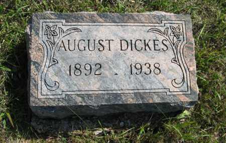 DICKES, AUGUST - Cedar County, Nebraska   AUGUST DICKES - Nebraska Gravestone Photos