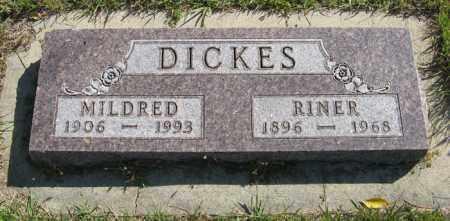 DICKES, RINER - Cedar County, Nebraska | RINER DICKES - Nebraska Gravestone Photos