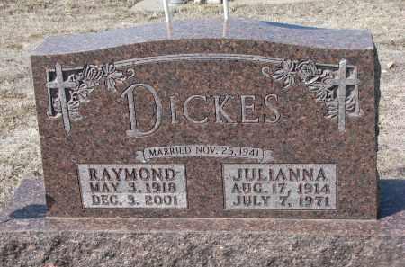 DICKES, JULIANNA - Cedar County, Nebraska   JULIANNA DICKES - Nebraska Gravestone Photos