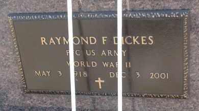DICKES, RAYMOND F. (WW II) - Cedar County, Nebraska | RAYMOND F. (WW II) DICKES - Nebraska Gravestone Photos